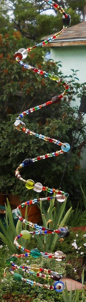 rainbow spiral suncatcher windchime