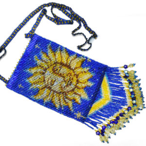 sun moon amulet bag flat