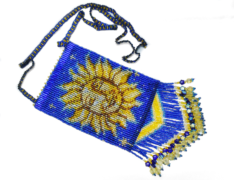 sun moon amulet bag flat