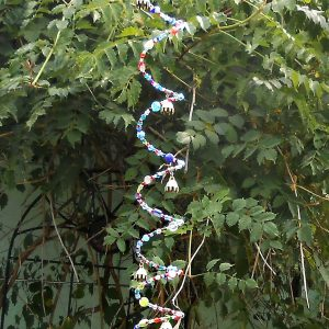spiral beaded mobile chime