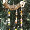 Yellow Gold Glass Bead Wind Chime