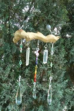 crystal gemstone chakra suncatcher