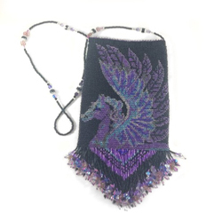 Pegasus Beaded Amulet Bag
