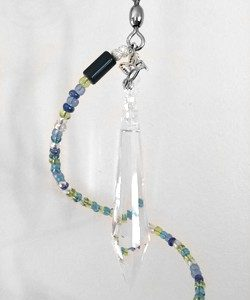blue agate hanging mobile Ccrystal top