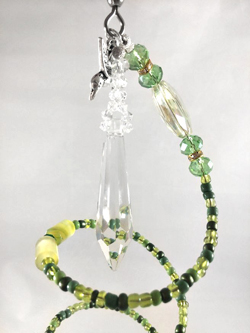 green agate crystal spiral top