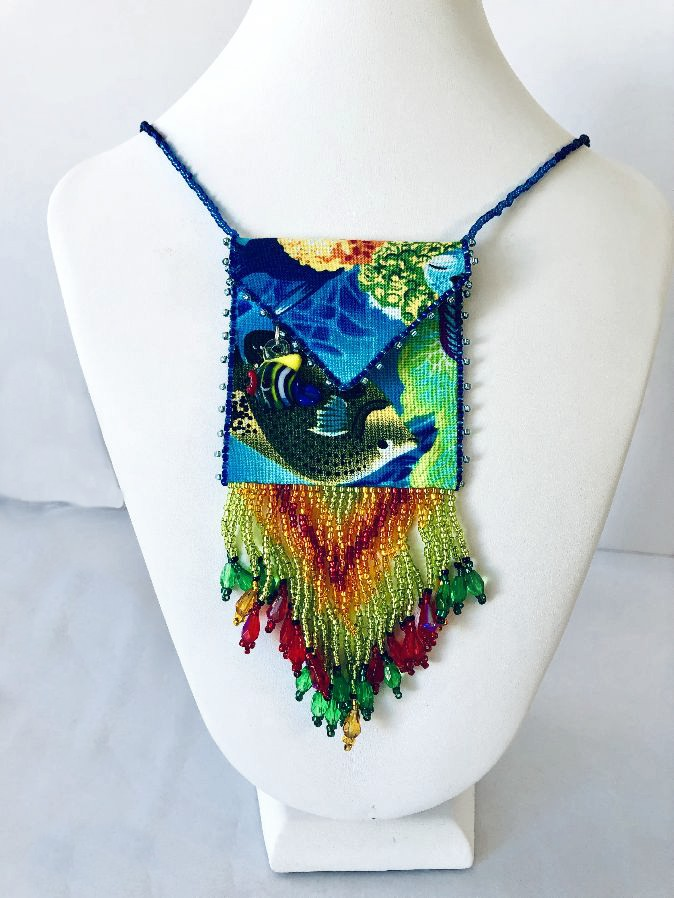 Tropical Fish Beaded Spirit Bag