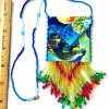Tropical Fish Beaded Spirit Bag size