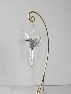 White Dove Beaded Suncatcher Ornament stand