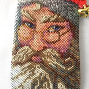 Jolly Old Saint Nicholas Beaded Bag close up