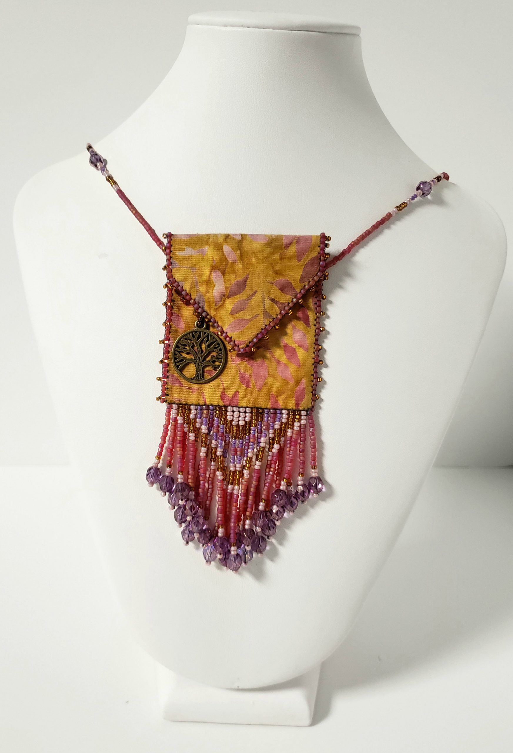Tree of LIfe Beaded Fringe Bag
