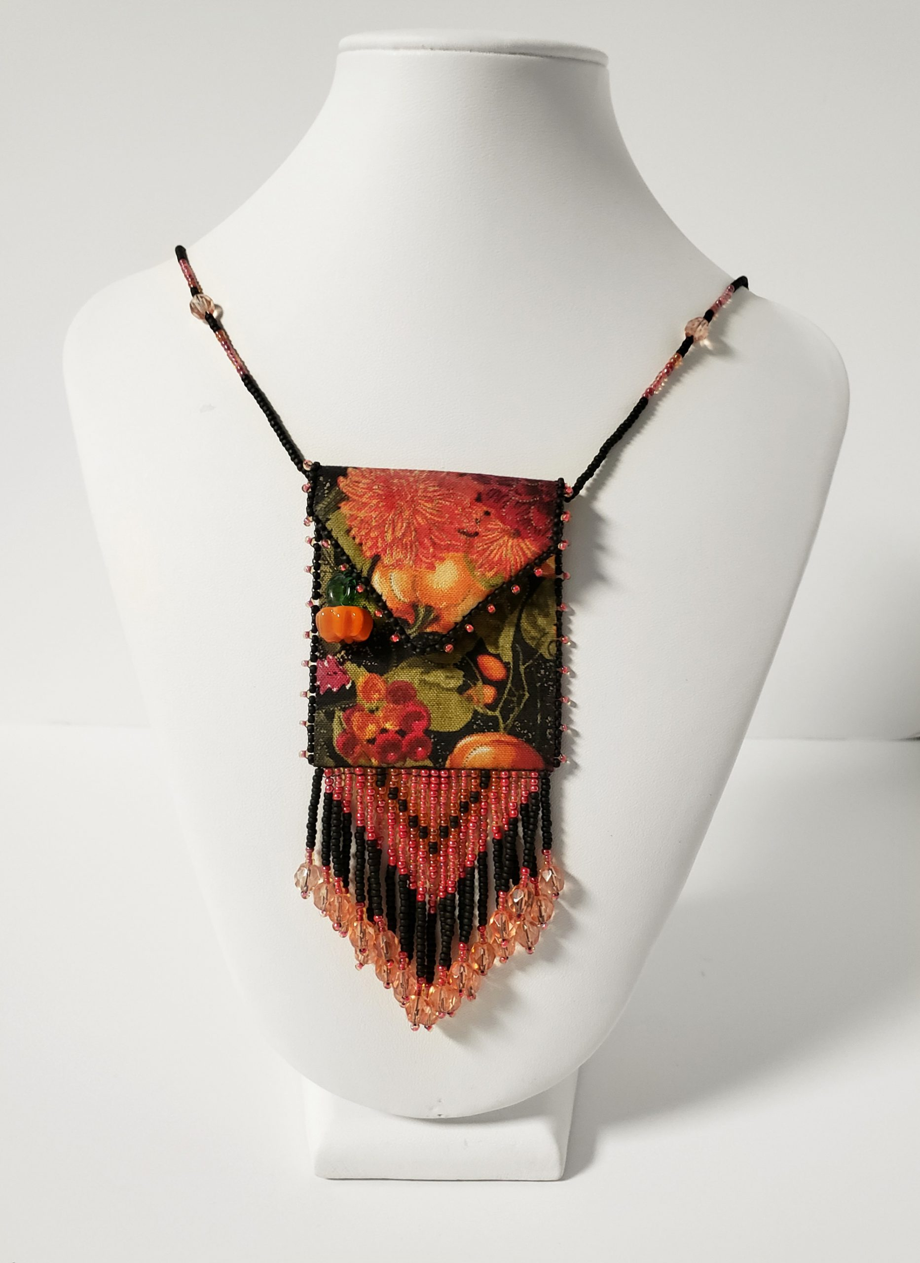 Autumn Splendor Beaded Fringe Bag