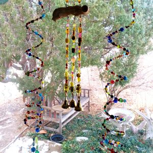 Rainbow Glass Bead Wind Chime Set