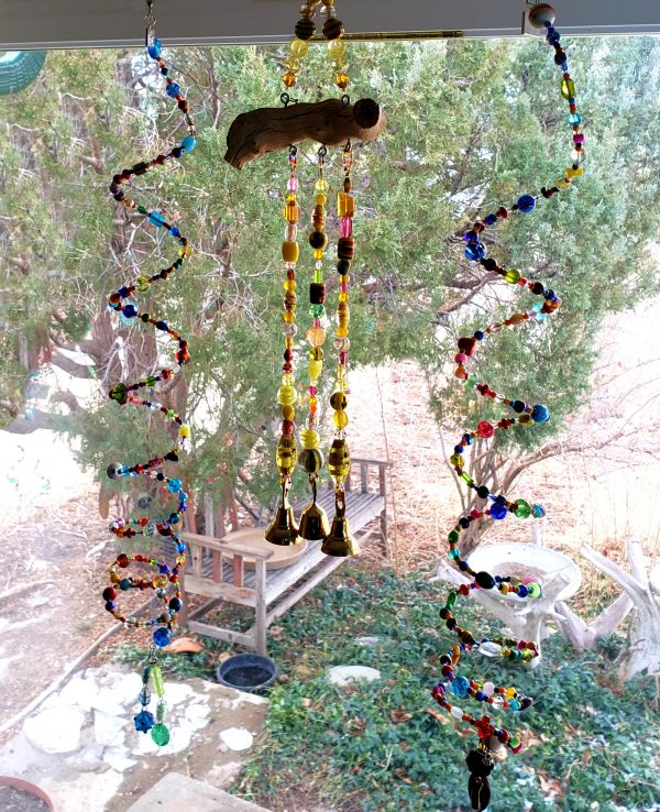 Rainbow Glass Bead Wind Chime Set