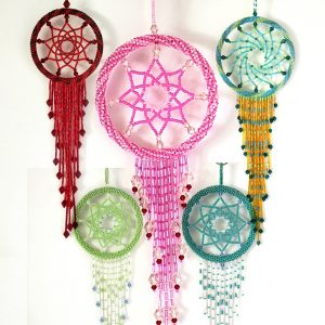 Glass Bead Dream Catchers