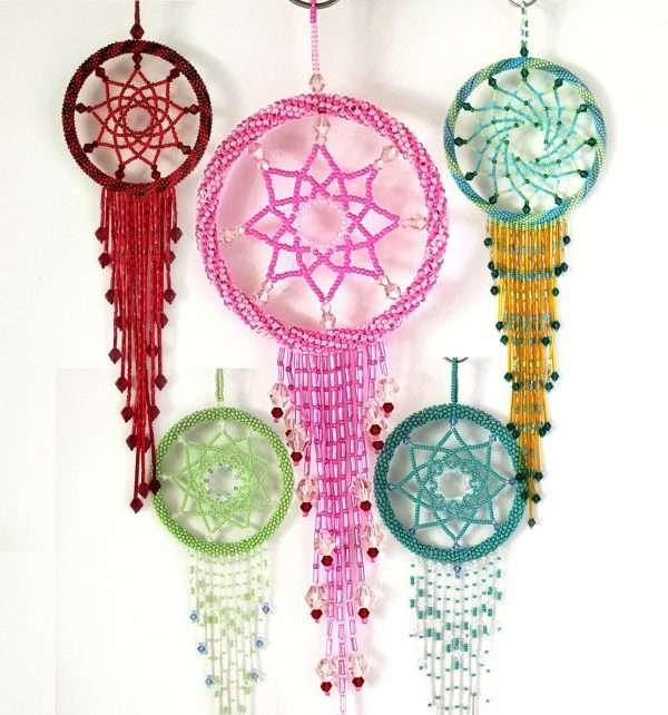 Glass Bead Dream Catchers