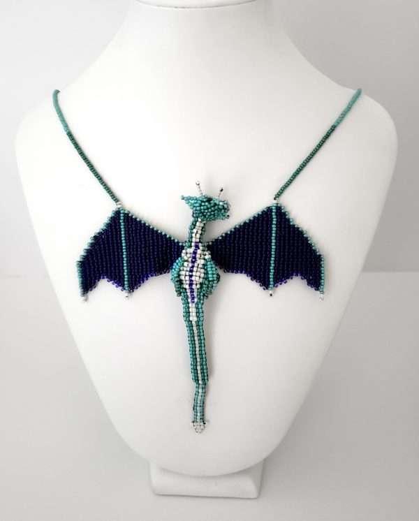 Dragon Necklacec Turquoise Purple