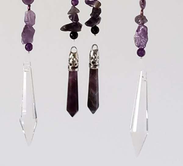 Amethyst Earth Stones Czech Crystals