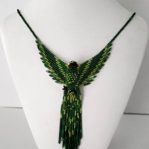 Green and Gold Phoenix Necklace